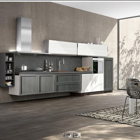 Cucina moderna in legno in offerta completa nuovimondi outlet cucine a prezzi scontati - Cucina completa prezzi ...