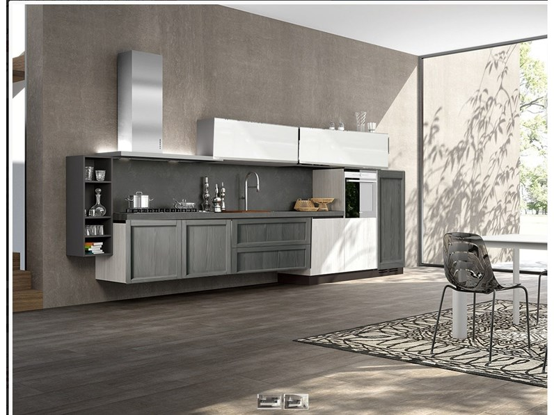 Cucina Completa Moderna.Cucina Moderna In Legno In Offerta Completa Nuovimondi Outlet