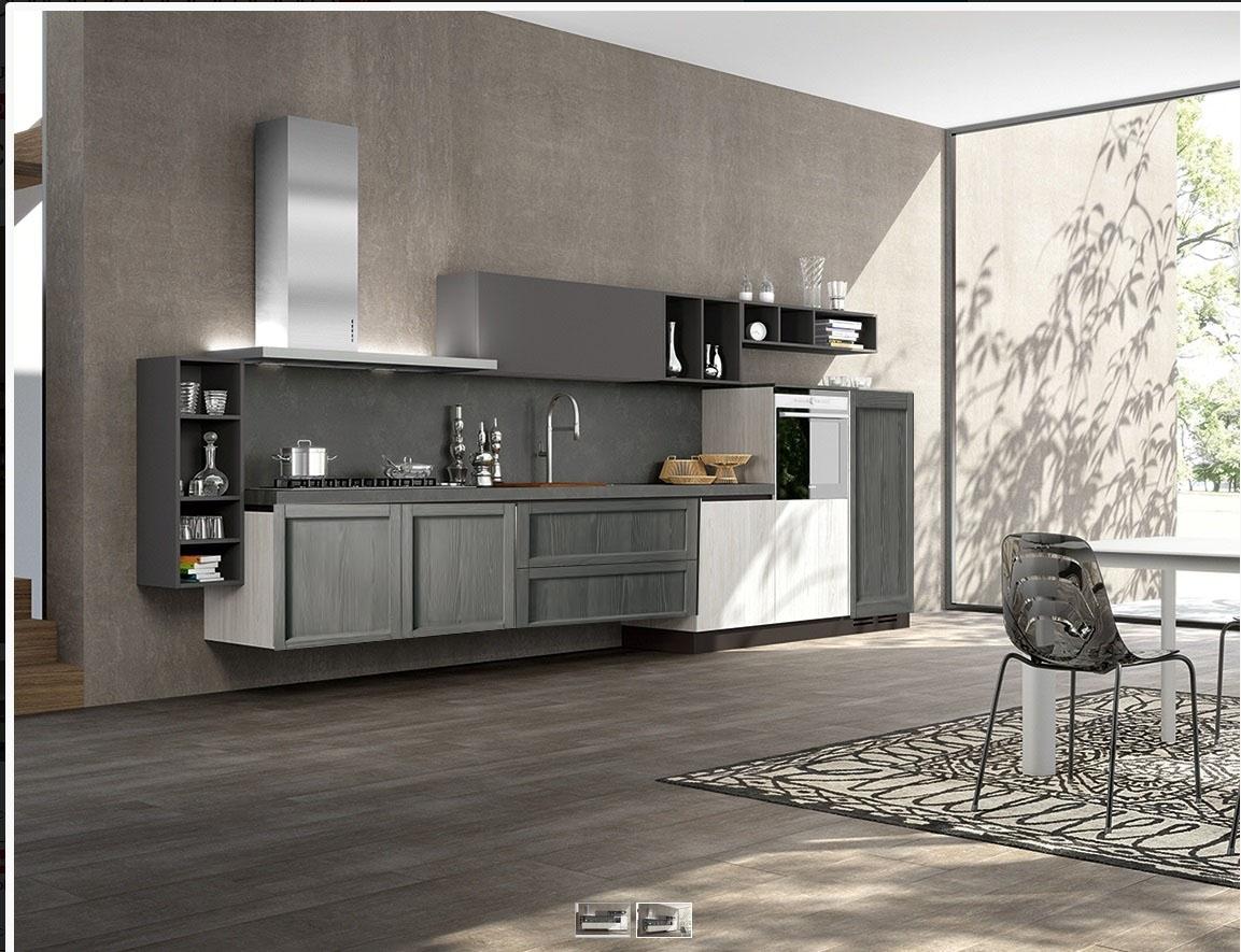 Cucina moderna in legno in offerta completa nuovimondi outlet cucine a prezzi scontati - Cucina moderna prezzi ...
