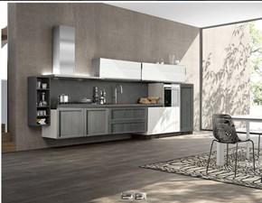 cucina moderna a semi sospesa il legno in offerta nuovimondi outlet