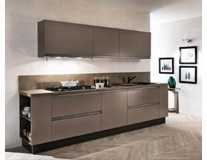 cucina in offerta gola scuro anta laccata opaca compresa moderna lineare