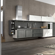 cucina moderna in offerta grigia e white essenza in offerta outlet