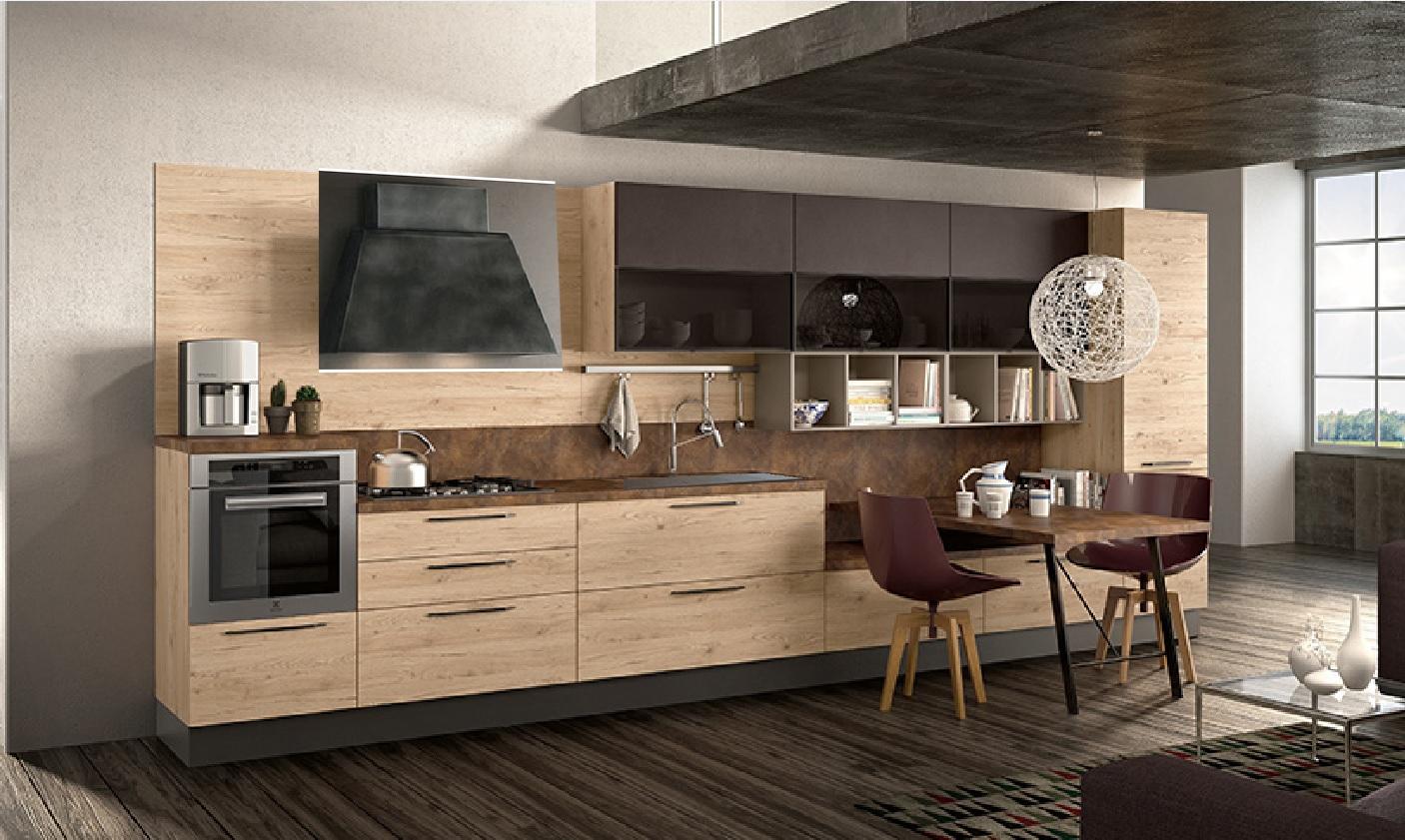 Cucina moderna industrial city urban in offerta outlet for Cucina in offerta