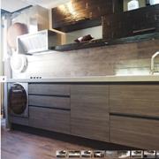 cucina moderna linea industrial in grigio e crash bambu noce in offerta outlet nuovimondi convenienza
