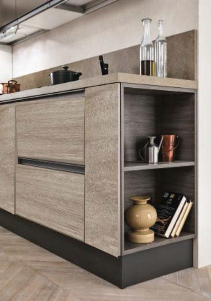 cucina moderna industrial maniglia ferro titanio brown prezzo ...