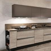 cucina moderna industrial  maniglia ferro titanio brown