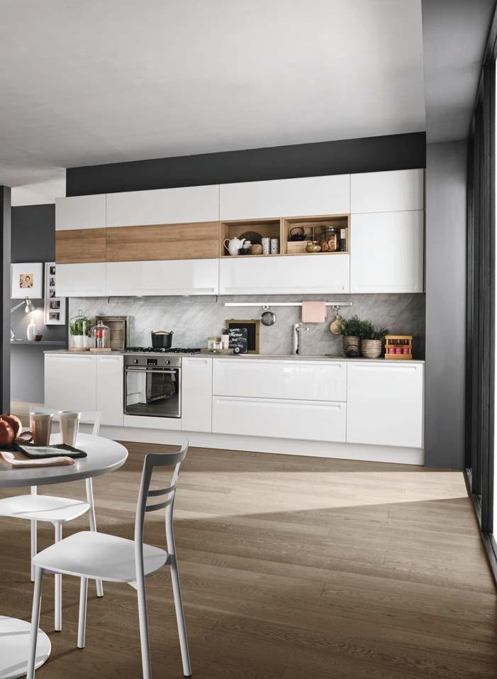 cucina moderna laccata opaca essenza rovere in offerta scontata outlet ...