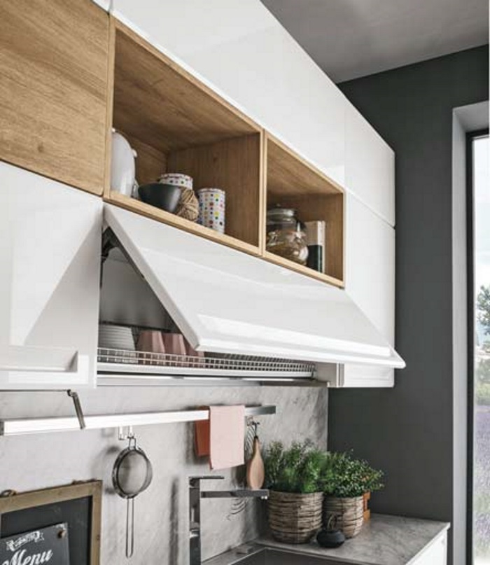cucina moderna laccata opaca essenza rovere in offerta scontata, Disegni interni