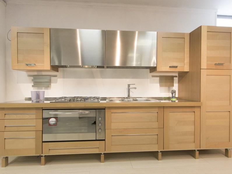 Cucina moderna larice Del tongo lineare Bellavita in offerta