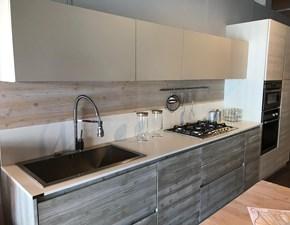 Cucina moderna larice Mirandola lineare New step scontata