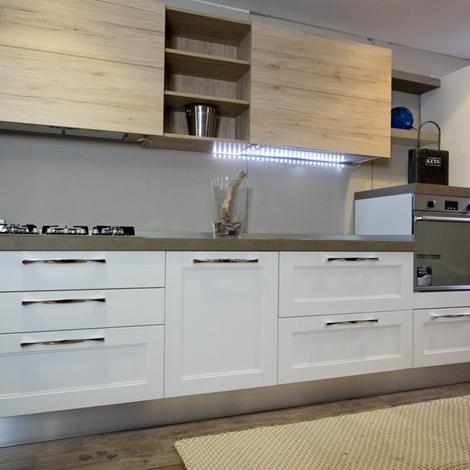 Cucina moderna legno white e rovere in offerta convenienza outlet cucine a prezzi scontati - Cucina moderna in legno ...