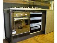 Cucine Con Ante Scorrevoli A Scomparsa.Cucina Moderna Linea Industrial Con Anta Scorrevole Top Cemento