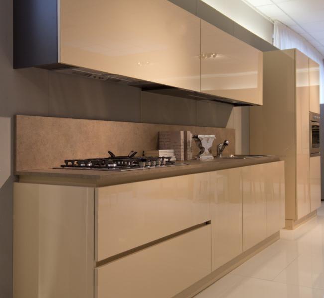 Cucina moderna linea tortora lucido cucine a prezzi scontati - Top cucina moderna ...
