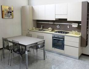 Cucina moderna lineare Artigianale U820 giada a prezzo scontato