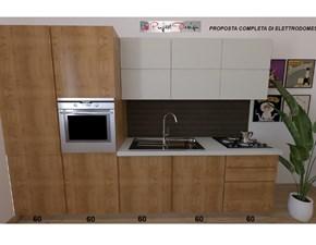 Cucina moderna lineare Astra cucine Sp22 a prezzo ribassato