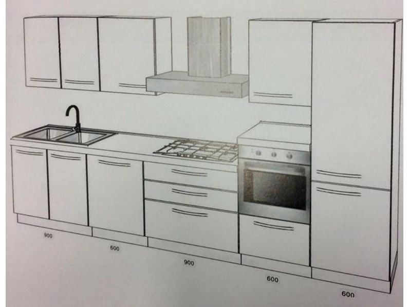 Cucina moderna lineare Brio o Clio Mobilturi cucine in vari colori in  promozione
