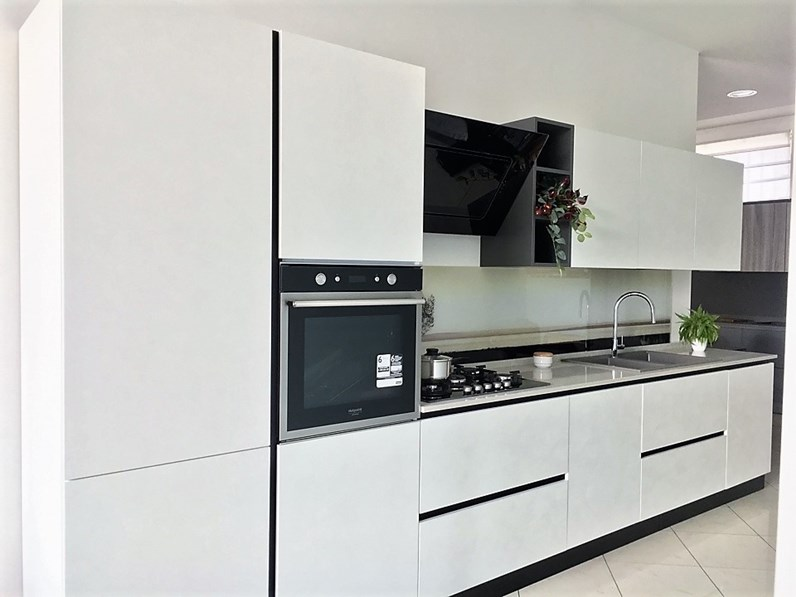 Cucina moderna lineare dibiesse spring gola a prezzo ribassato - Cucina moderna prezzo ...