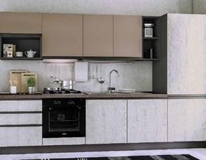 Cucina moderna lineare Evo cucine Selene a prezzo ribassato