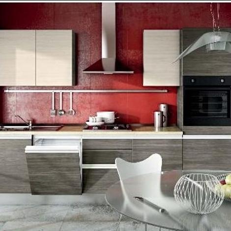 cucina moderna lineare gola tranche bicolore corda e white ...