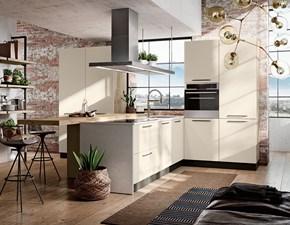 Cucina moderna lineare Imab group Modello capri bianca e rovere a prezzo ribassato