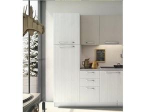 Cucina lineare moderna modello Cloe finitura lino della Arredo 3 cucine