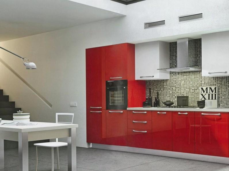 Cucina Moderna Laccata Lucida.Cucina Moderna Lineare Laccata Lucida Arredo3 Cucine