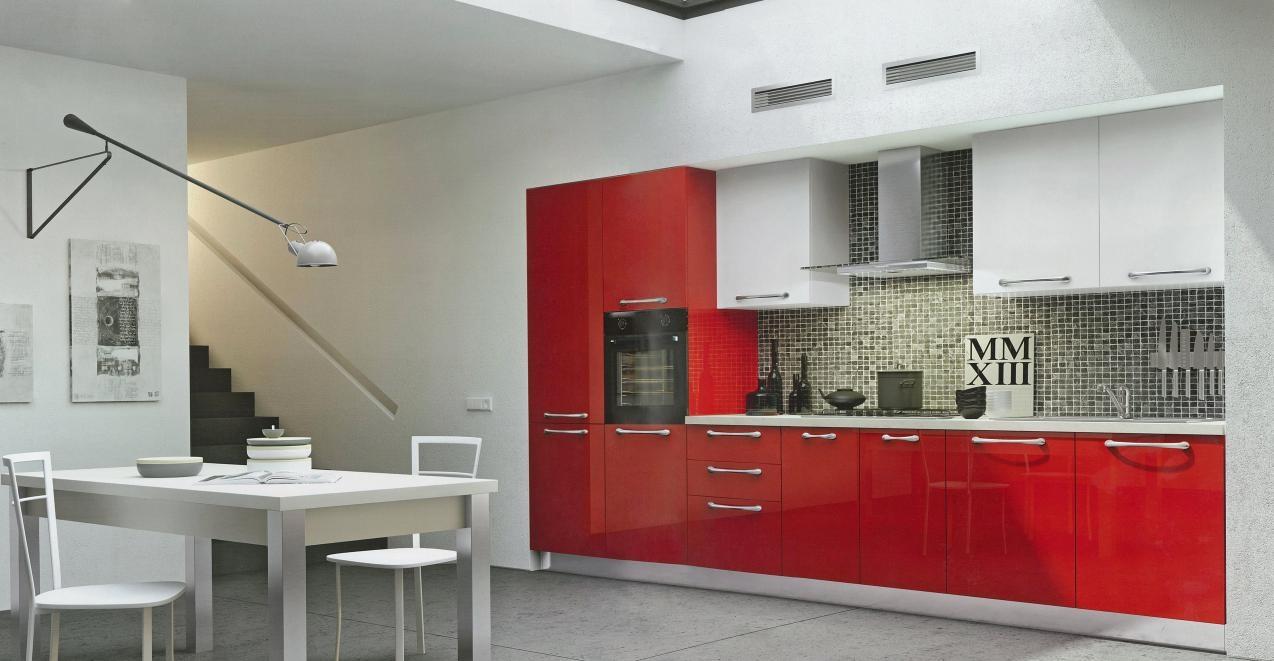 Cucina Moderna Linearelaccata Lucida Arredo3 Cucine