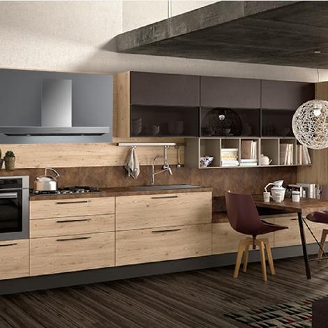 Cucina moderna lineare nature zen easy in offerta completa for Cucina lineare offerta