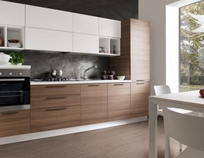 Cucina moderna lineare S75 Cucina mod.chloè versione laminato eucalipto scontata del 35% a prezzo ribassato