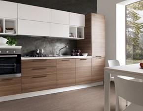 Cucina moderna lineare S75 Cucina mod.chloè versione laminato eucalipto scontata del 30% a prezzo ribassato