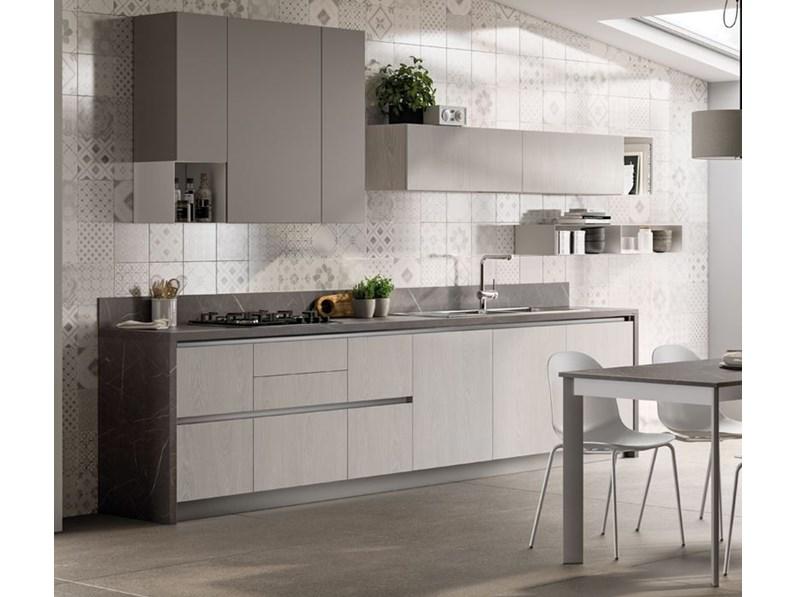 Cucina moderna lineare Scavolini Evolution a prezzo scontato
