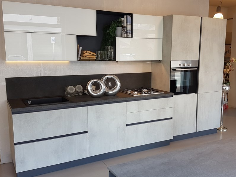 Cucina moderna lineare stosa cucine alev a prezzo ribassato - Stosa cucine prezzo ...