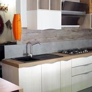 cucina essenziale moderna tranche white