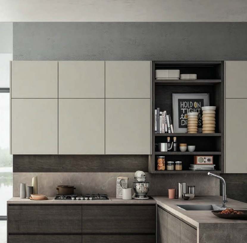 Cucina moderna living con penisola moderna in offerta for Prezzi cucine con penisola