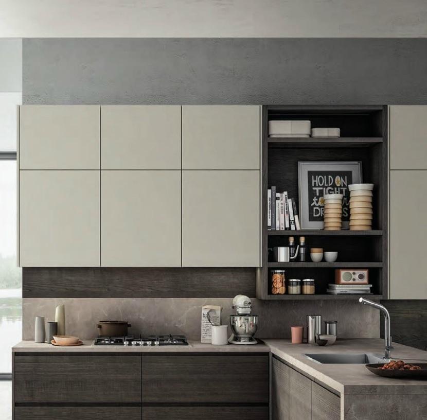 Cucina moderna living con penisola moderna in offerta for Cucine living prezzi