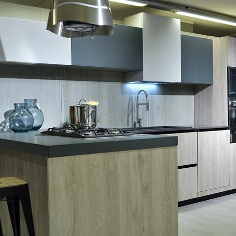 Cucina moderna materia doimo in feinix grigio e quercia - Cucine doimo prezzi ...