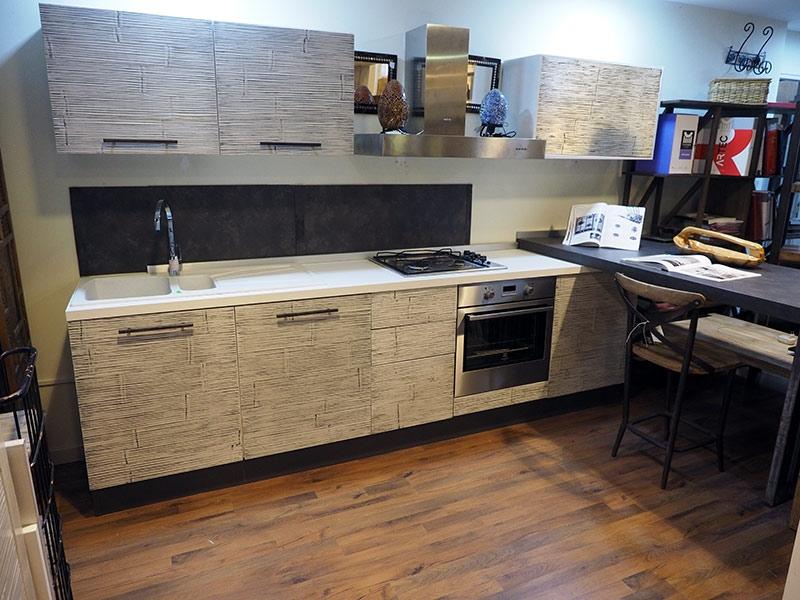 Cucina moderna mody bambu e lagno con penisola industrial - Cucina moderna penisola ...