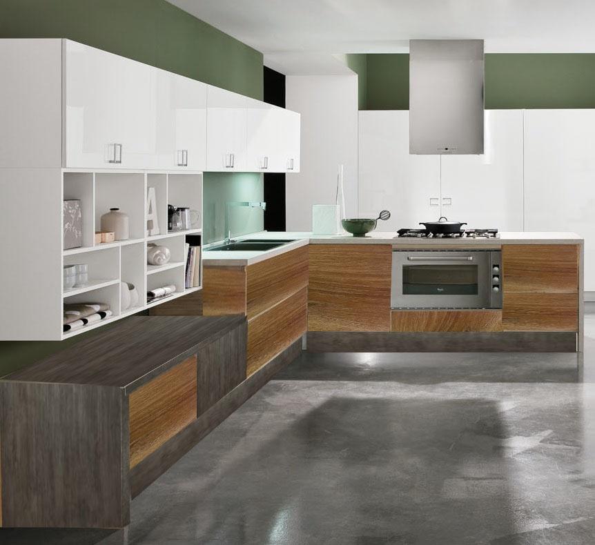 cucina moderna prezzo offerta essenza etno teak e pensili white ...
