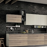 cucina moderna pura nature lineare in offerta outlet