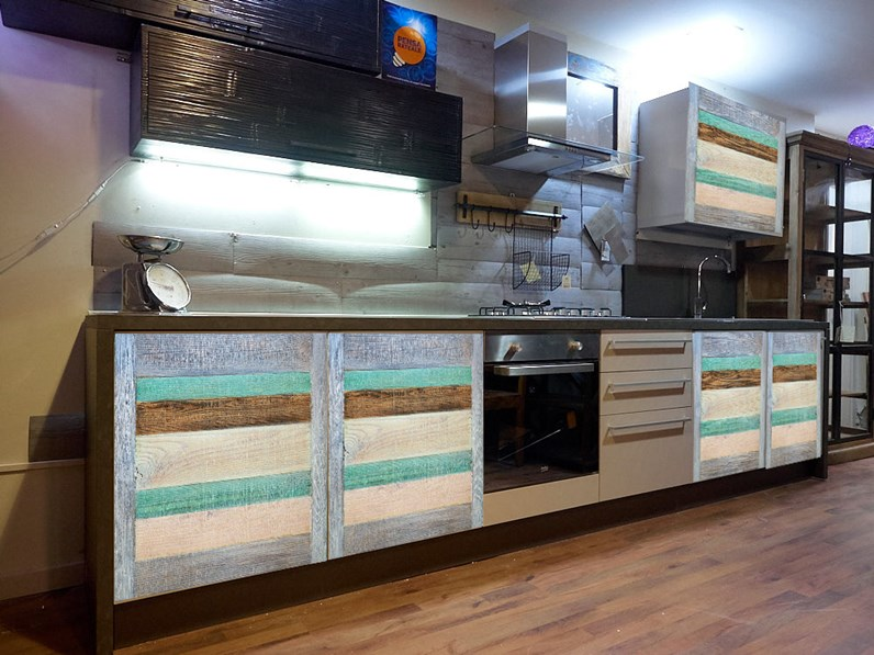 cucina moderna recicle colorata vintage in offerta completa