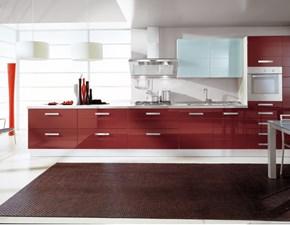 Cucina moderna rossa S75 lineare Cucina mod.vania in polimerico lucido dogato scontata del 30% in offerta