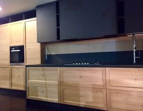 Cucina moderna rovere chiaro Ar-tre lineare Infinity rovere nodato - paolo biordi designer scontata