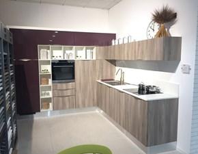 Cucina moderna rovere chiaro Arredo3 ad angolo Wood in Offerta Outlet