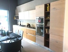 Cucina moderna rovere chiaro Arrex lineare Zenzero scontata
