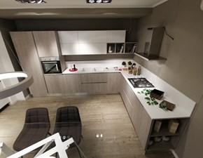 Cucina moderna rovere chiaro Artec ad angolo Essenza scontata