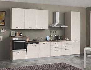 Cucina moderna rovere chiaro Artigianale lineare Emma in offerta