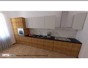 Cucina moderna rovere chiaro Astra cucine lineare Sp22 in Offerta Outlet