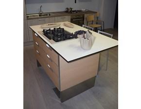 Cucina moderna rovere chiaro Scavolini ad isola Cometa mood - isola in offerta
