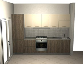 Cucina moderna rovere moro Essebi cucine lineare Cucina modello astro essebi in Offerta Outlet