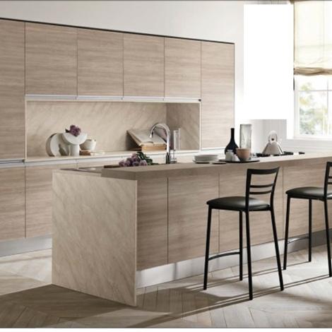 Cucina moderna rovere terra essenza con elettrodomestici - Cucine in rovere ...